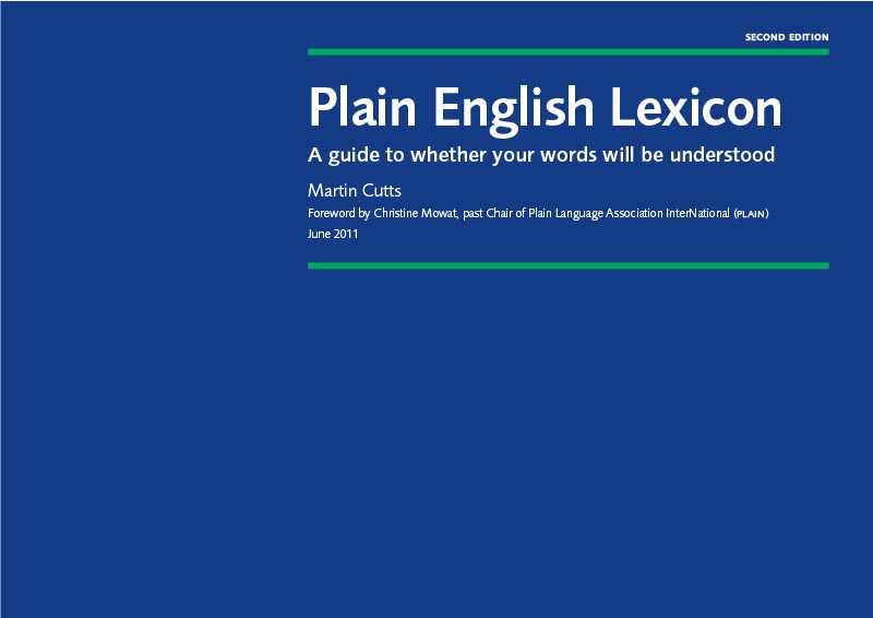 Click to download Plain English Lexicon booklet